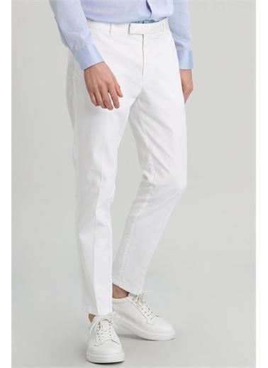 Lufian Mate Spor Chino Pantolon Slim Fit  Beyaz